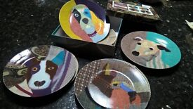 MAGPIE POOCHES PLATES BOXED DOGS XMAS
