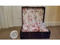 Vintage Wooden Suitcase- Ideal for wedding display