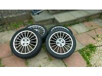 "Fox 17"" 4x100 alloy wheels"