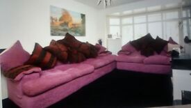 4 & 2 seater sofa with large cushions