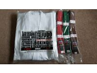 Martial Arts Karate Judo Gi Uniform and Belts