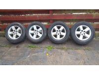 Toyota Rav4 II 00-06 models Set of Alloys with great tyres 2x 6mm Hankook, 2x 7mm Constancy