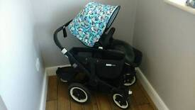Bugaboo donkey mono black with extras