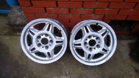 "Rare! BMW Motorsport 15"" M3 Alloy Wheels x4"
