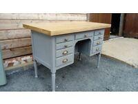 vintage desk with solid oak top