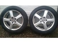 Enzo B alloy wheels and tyres