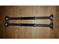 18 inch long dumbbell bars x2