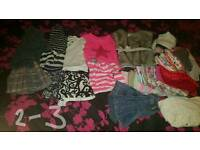 Girls clothes from 2-3, 3-4 ,4-5, girls size 7 skechers