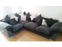 Grey scatter back cushion, right hand facing corner suite