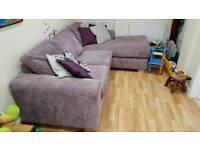Purple Corner Sofa bed