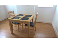 Square Table, 4 chairs plus matching Sideboard.