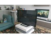 """50"""" flat screen tv with stand"""