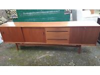 Mid Century Retro Danish Troeds Grand Teak Sideboard Designed By Nils Jonsson