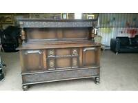 Attractive Neo-Tudor Oak Sideboard