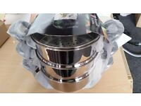 Brand new ,sealed Russell Hobbs 3 tier Heritage Steamer - black handles rrp £59.99