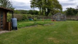 """allotment"" area for use on private land with use of greenhouse in delightful location"