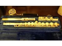 Selmer USA flute with hard case.