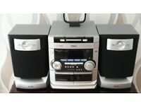 PHILPS 3cd Hi-fi System with digital DAB radio and tape record in very good condition good condition