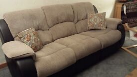 Charleston Three Seater Sofa Recliner - Brown