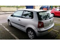 VW silver hatchback Polo 2002 petrol 1.2. One previous owner. 90,000 miles.