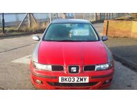 Seat Leon 1.9 Diesel 5 Door Manual in Grey/red 12/17 mot (catc)