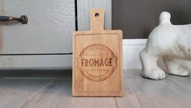 Set of 4 Mini Cheese Boards 2 x wood 2 x slate