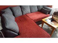 Dylan Sawanna Grey Left Corner Sofa