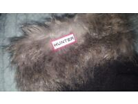 Hunters fur fluffy welly socks