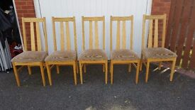 5 Oak and soft Padded Seat Dining Chairs FREE DELIVERY 1032 old school chairs  5 00   in Leicester  Leicestershire   Gumtree. Old Dining Chairs Leicester. Home Design Ideas