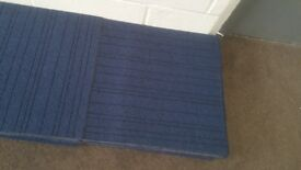 25 blue carpet tiles can deliver viewing welcome