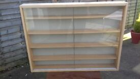 used display cabinet, model collection has out grown it, glass doors are marked as safety glass