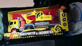Transport and Excavator Toy new boxed