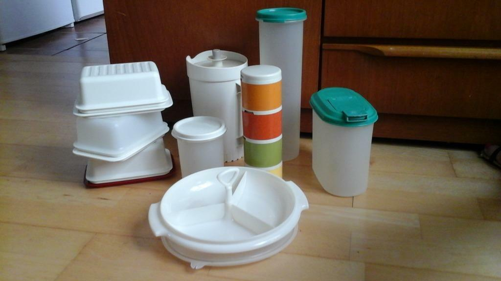Mixture Of Tupperware Containers In Plymouth Devon