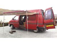 V.W. campervan. Great engine, plenty of storage, comfy bed, kitchen and awning. MOT until October