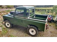 1968 Land Rover Series 2a 88'' Truck cab on galvanised chassis