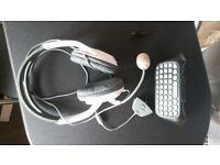 Xbox 360 Headset & keyboard