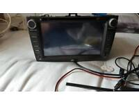 Car dvd and reverse camrea toyota avensis
