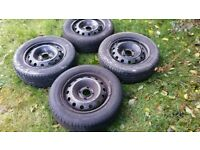 Set of 4 wheels and tyres in good condition