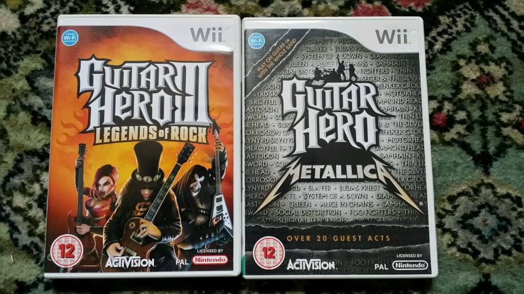 Wii Guitar Hero x2