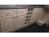 I have a selection of light maple effect kitchen units all good condition for out house / garage