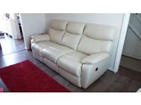 Harveys Bailey 3 seater Real leather sofa with Electric Recliners