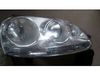 VW Golf MK5 2004-2009 Front HEADLIGHT RIGHT with silver insert (DRIVER SIDE)