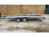 Twin axle car transporter trailer 2700kg gross, only 10 months old