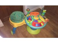 Bright starts around we go activity table jumperoo