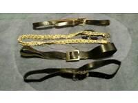Set of 4 ladies belts