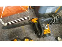 Worx 303e chain saw. Only used once. Warranty till Aug 2019