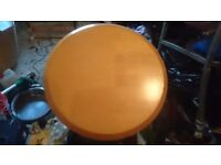 Solid wood circular table good condition £15ono
