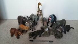 Plastic animal collection