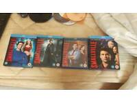 Smallville seasons 6 to 9 original blu-ray disks boxsets