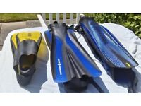 Fins - Scuba Pro and Northern Diver , size Large and S/M